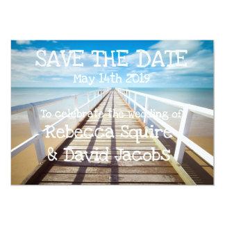 Cartão Salvar a praia da data  