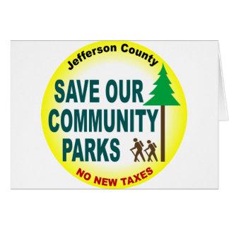 Cartão Salvar nossos parques de comunidade