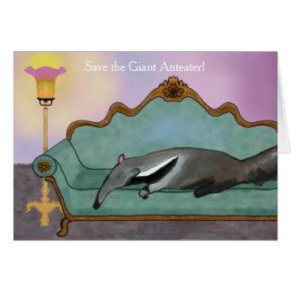 Cartão Salvar o Anteater gigante
