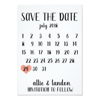 Cartão Salvar o calendário da data