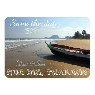 Cartão Salvar o casamento de praia da data