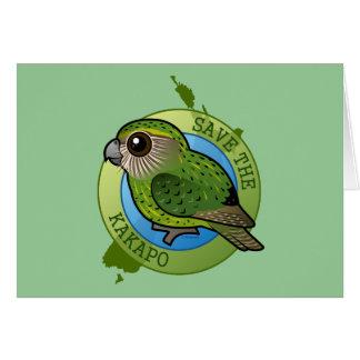 Cartão Salvar o Kakapo