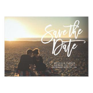 Cartão Salvar o roteiro da data, horizontal, paisagem