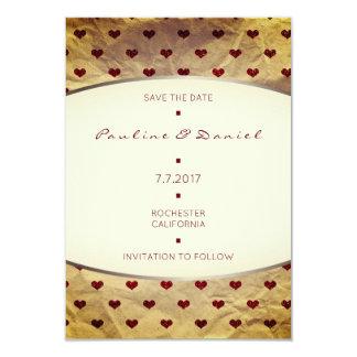 Cartão Salvar os corações velhos Bugund do brilho de