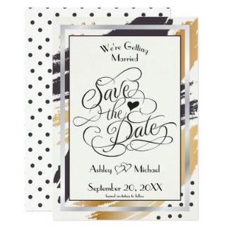 Cartão Salvar os cursos e a tipografia modernos da