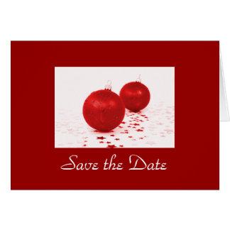 """Cartão """"Salvar os ornamento vermelhos da árvore de Natal"""