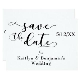 """Cartão """"Salvar tipografia do preto da data"""" com o """"amor"""""""