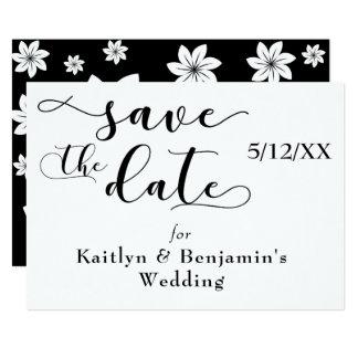 """Cartão """"Salvar tipografia do preto da data"""" com parte"""