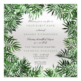 Cartão Samambaia cinzenta do quadro das folhas de palma