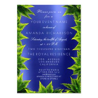 Cartão Samambaia metálica da folha das calças dos azuis