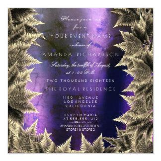 Cartão Samambaia roxa da folha da planta da floresta dos