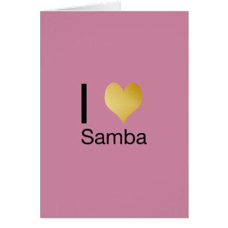 Cartão Samba Playfully elegante do coração de I