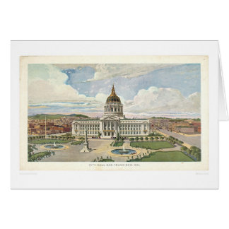 Cartão San Francisco, CA. Câmara municipal (0286A)