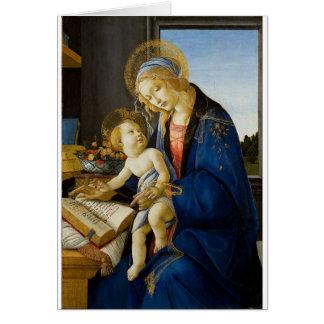Cartão Sandro Botticelli - o Virgin e a criança