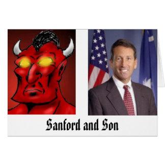 Cartão Sanford e filho
