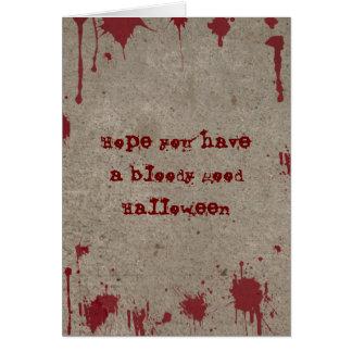 Cartão sangrento do Dia das Bruxas