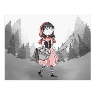 Cartão sangrento do vermelho de Lil