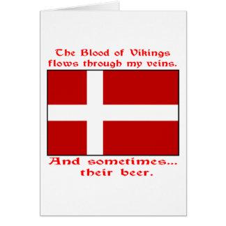 Cartão Sangue dinamarquês & cerveja Viking