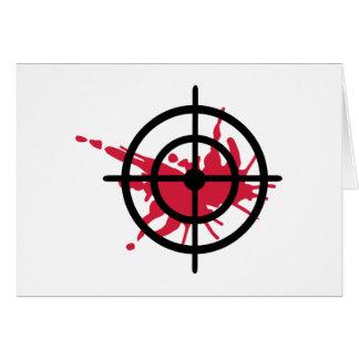 Cartão Sangue dos Crosshairs