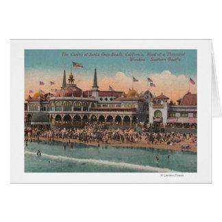 Cartão Santa Cruz, CA - casino e praia de Santa Cruz