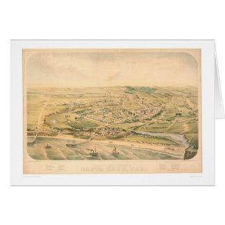 Cartão Santa Cruz, mapa panorâmico do CA (1586A) - não