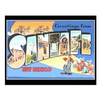 Cartão Santa Fé do vintage