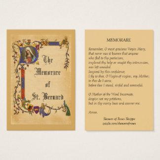Cartão santamente abençoado vintage de Memorare da
