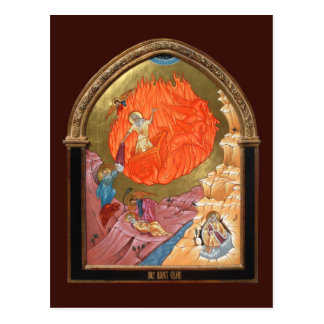 Cartão santamente da oração de Elijah do profeta