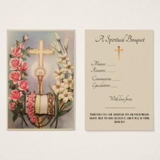 Cartão santamente da oração do buquê espiritual