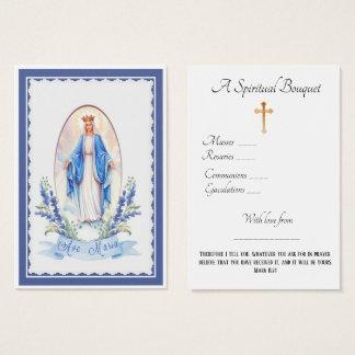 Cartão santamente da oração do buquê espiritual da