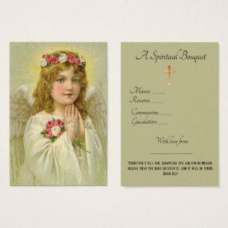 Cartão santamente da oração do buquê espiritual do
