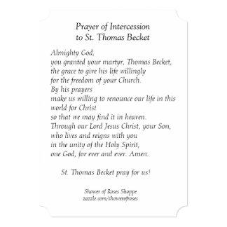 Cartão santamente da oração do nó de escota de St