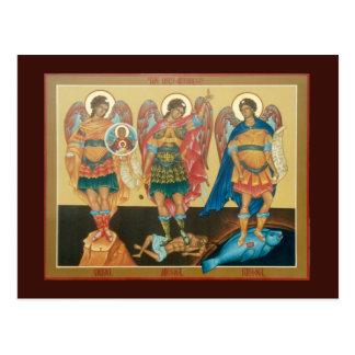 Cartão santamente da oração dos arcanjos cartão postal