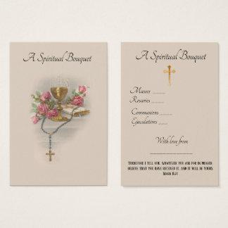 Cartão santamente da oração floral do buquê
