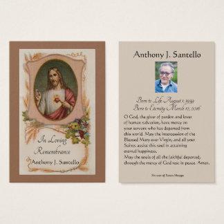 Cartão santamente da oração memorável fúnebre
