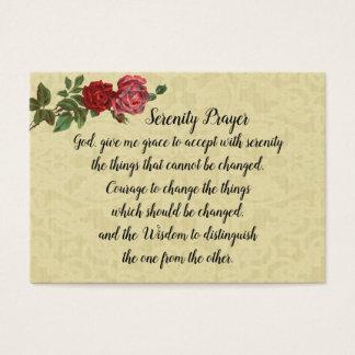 Cartão santamente da oração original da serenidade