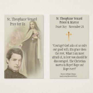 Cartão santamente do padre & do mártir do St.