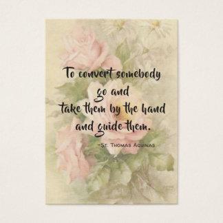 Cartão santamente dos rosas das citações de St