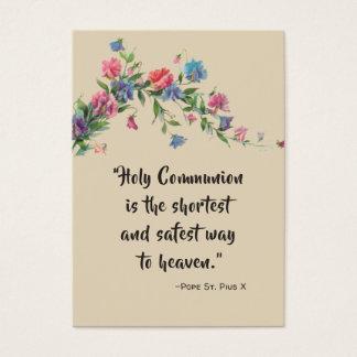 Cartão santamente dos rosas das citações do