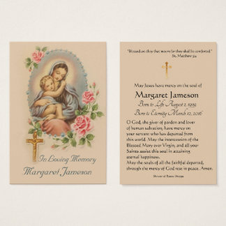 Cartão santamente memorável fúnebre católico da