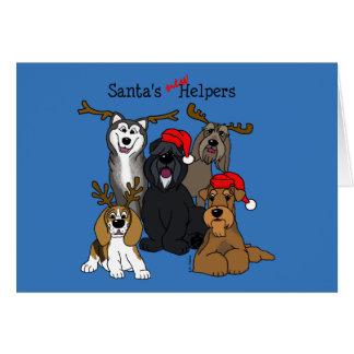 Cartão Santas new helpers