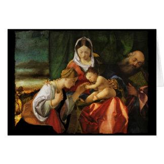 Cartão Santo Catherine e Mary de Jesus do bebê