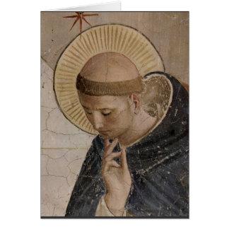 Cartão Santo Francis com a cabeça curvada