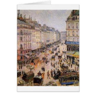 Cartão Santo Lazare da rua por Camille Pissarro