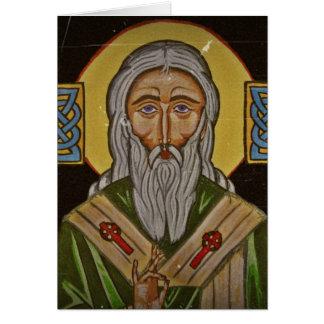 Cartão Santo Patrick da cruz celta