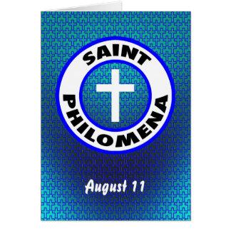Cartão Santo Philomena