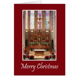 Cartão Santuário bonito do Natal de St Mary