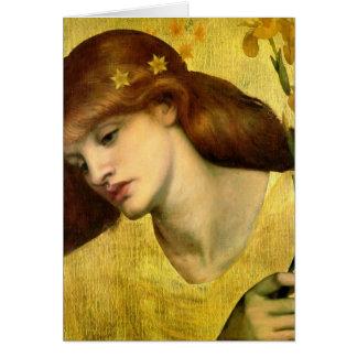Cartão Santuários Lilias de Dante Gabriel Rossetti-