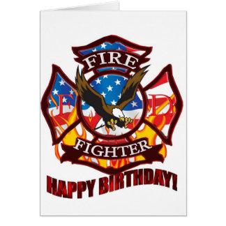 Cartão Sapador-bombeiro