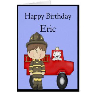 Cartão Sapador-bombeiro, pouco carro de bombeiros